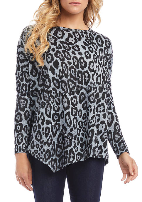 Karen Kane Womens Asymmetric Dolman Sleeve Top