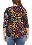 Plus Size Tie Dye Burnout Shirt