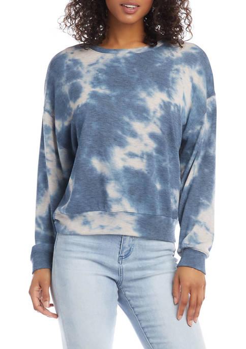 Karen Kane Womens Tie Dye Fleece Sweatshirt