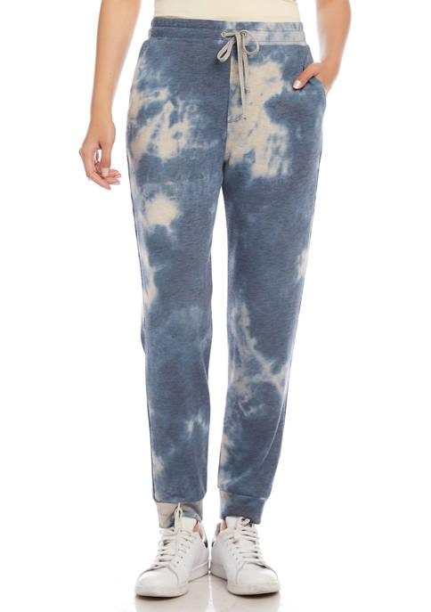 Karen Kane Pull On Tie Dye Fleece Sweatpants