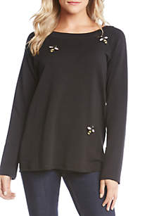 Embroidered Bee Top