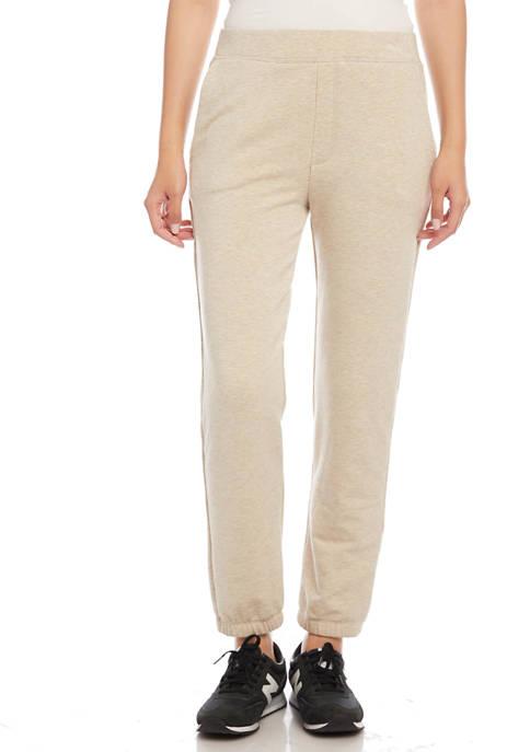 Karen Kane Womens Pull On Fleece Knit Sweatpants