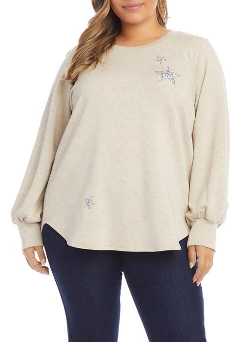 Karen Kane Plus Size Star Sweater