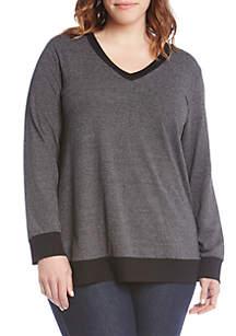 Double Fleece Knit Pullover