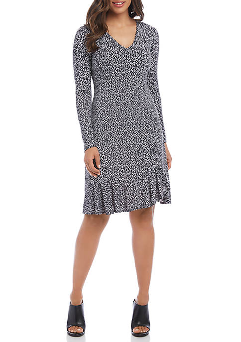 Karen Kane Long Sleeve Sienna A Line Dress