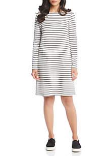 Stripe French Terry Dress