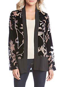 Velvet Burnout Contrast Jacket