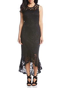 Long Fitted Lace Dress