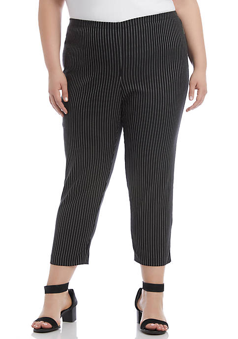 Plus Size Pinstripe Pants