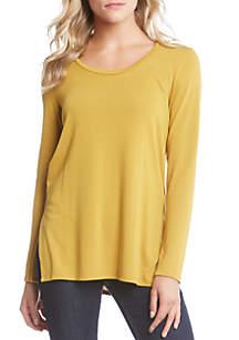 Side Slit Scoop Neck Sweater