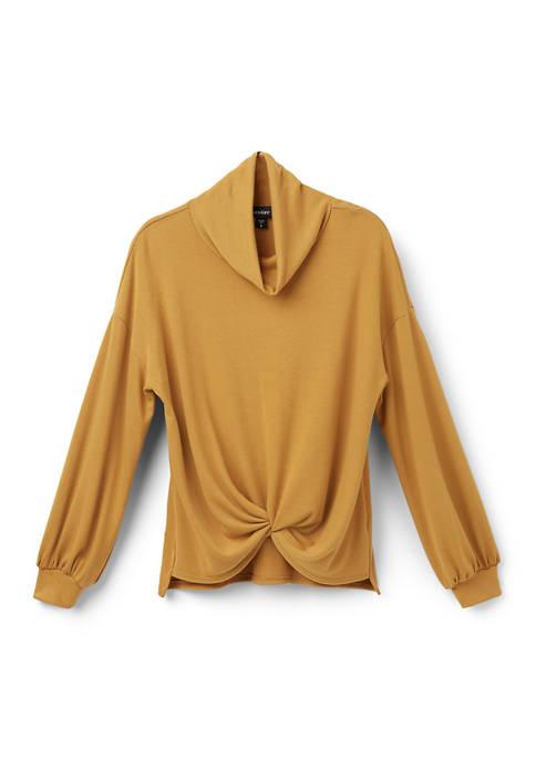 Karen Kane Womens Twist Front Sweater