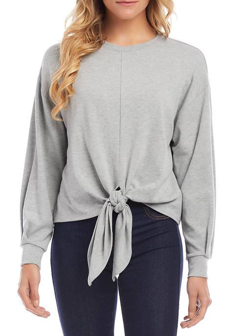Karen Kane Petite Tie Front Sweater