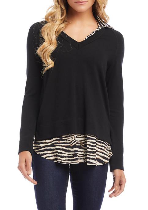 Womens Layered Sweater