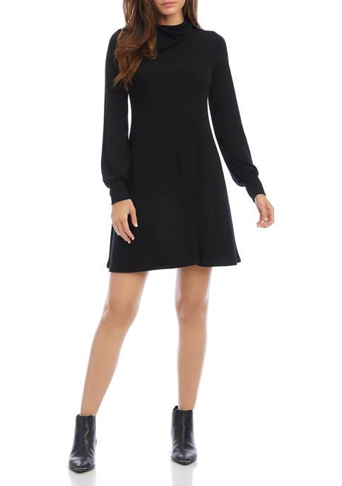 Womens Drape Neck Sweater Dress