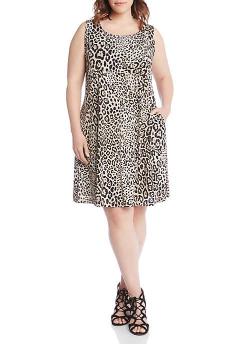 Karen Kane Plus Size Leopard Print Dress Belk