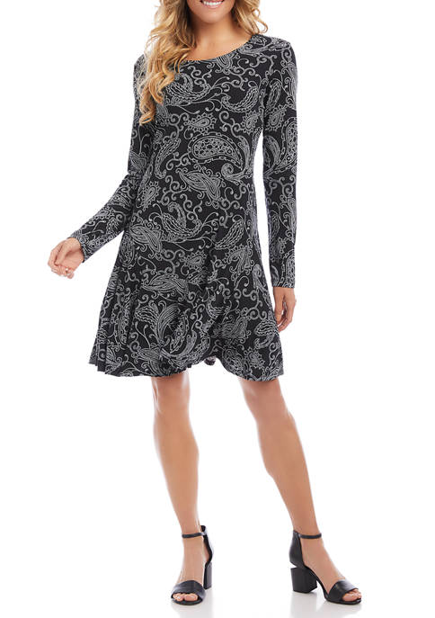 Karen Kane Womens Dakota Printed Dress