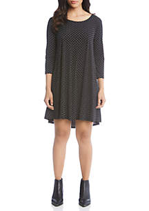 3/4 Sleeve Dot Maggie Dress