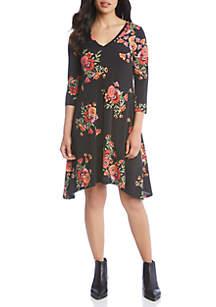 Poppy Print Hailey Dress