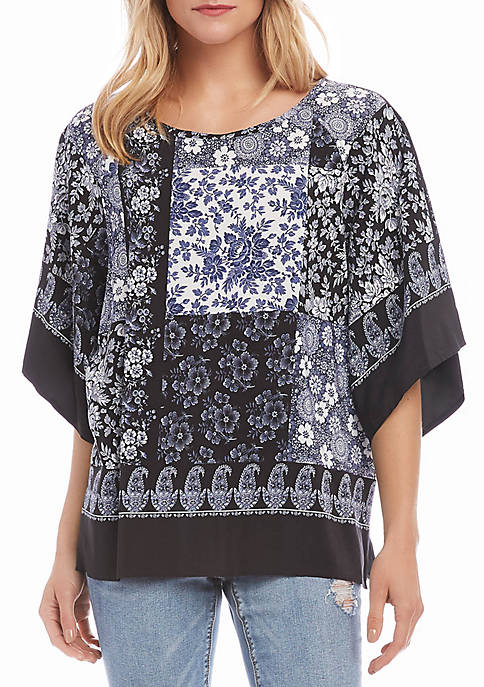 Karen Kane Flare Sleeve Printed Top