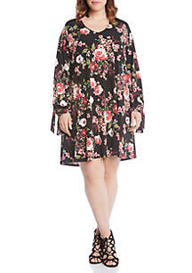 Plus Size Tie-Sleeve Taylor Dress