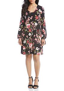 Tie-Sleeve Floral Taylor Dress