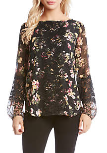 Contrast Lace Panel Top