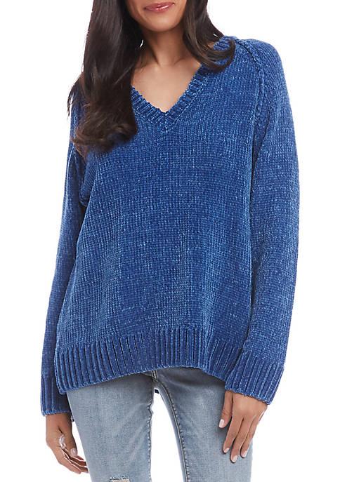 Karen Kane V Neck Chenille Sweater