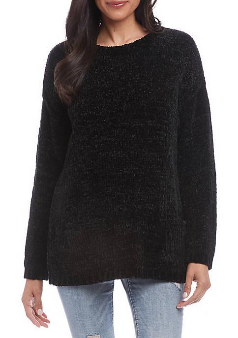 Karen Kane Womens Chenille Double Pocket Sweater