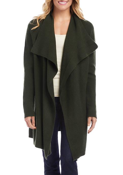 Karen Kane Womens Drape Front Cardigan