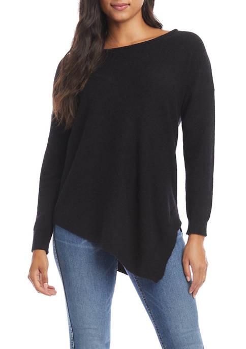 Womens Asymmetric Hem Sweater