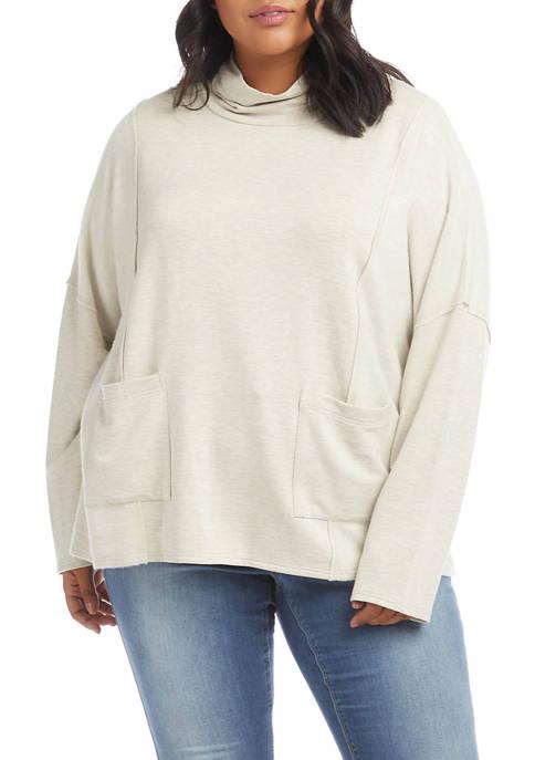 Karen Kane Plus Size Long Sleeve Turtleneck Top