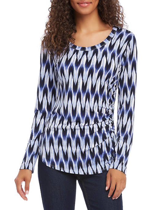 Karen Kane Womens SIde Shirred Top