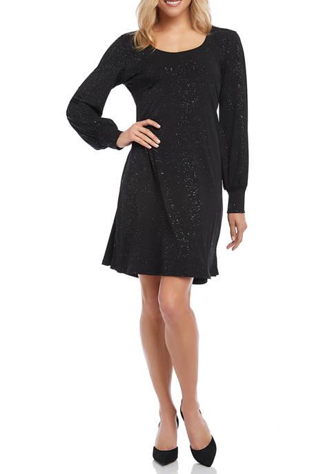 Karen Kane Womens Sparkle Knit A Line Dress