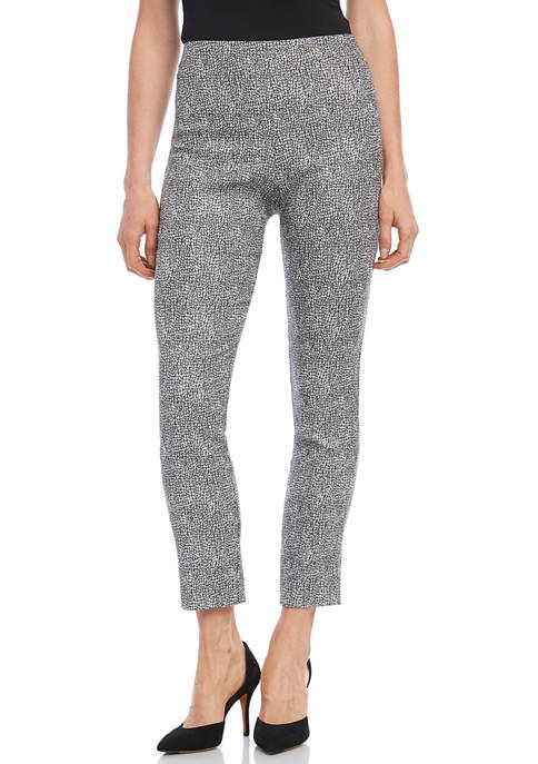 Karen Kane Womens Metallic Jacquard Piper Pants
