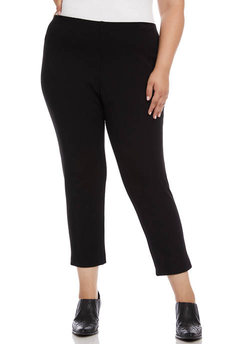 Karen Kane Plus Size Saddle Stitch Piper Pants