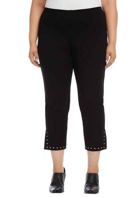 Karen Kane Plus Size Piper Studded Hem Pants