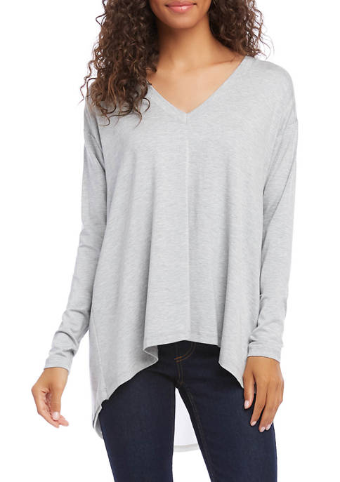 Womens Button Back Pullover