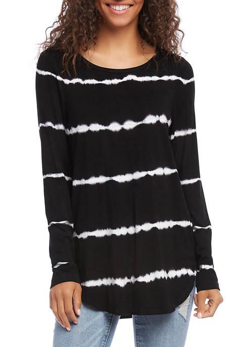 Womens Tie Dye Shirttail Top