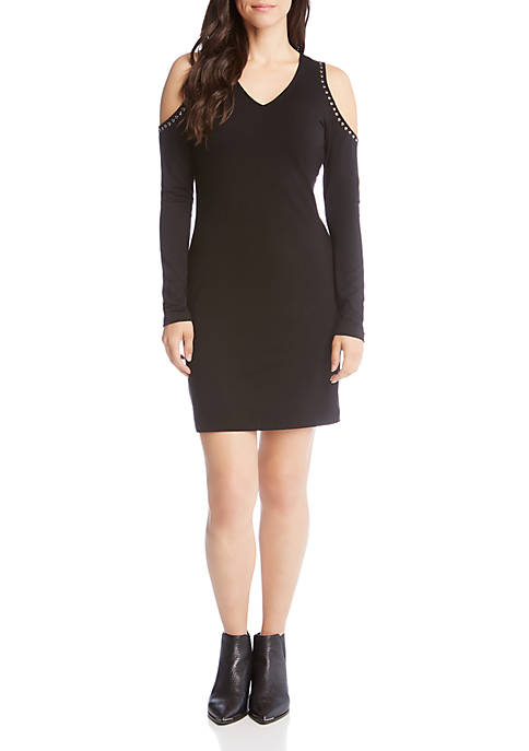 Karen Kane Cold Shoulder Studded Dress