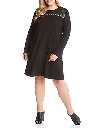 6b44d5f9bd Karen Kane Plus Size Studded A-Line Dress