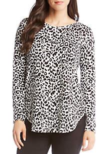 Long Sleeve Shirttail Sweater