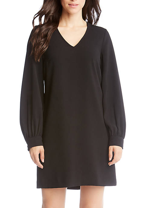 Karen Kane Blouson Sleeve Crepe Dress