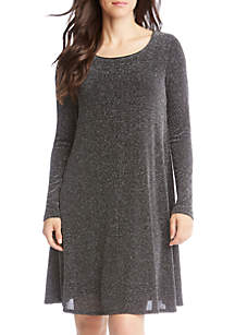 Silver Metallic Chloe Dress