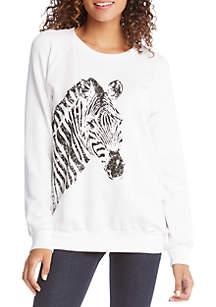 Karen Kane Zebra Print Sweatshirt