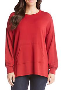 Long Sleeve Kangaroo Pocket Sweatshirt
