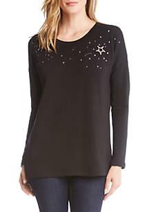 Karen Kane Star Embellished Sweater