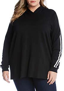 Karen Kane Plus Size Varsity Stripe Hoodie