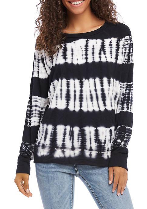 Karen Kane Womens Tie Dye Sweatshirt