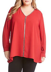 Plus Size Sparkle Long Sleeve Top