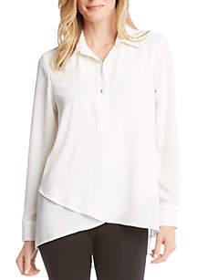Long Sleeve Crossover Shirt